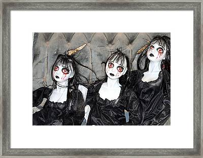 Witches Of Hallow's Eve Framed Print by Elizabeth Winter