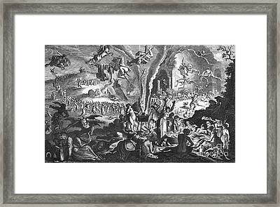 Witches Sabbath Framed Print by Granger