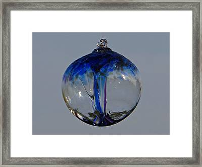 Witch's Ball Framed Print by Brenda Conrad