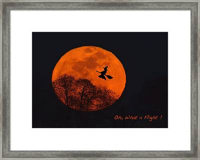 Witchy Moon Framed Print by William Jobes