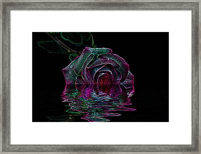 With A Glow Framed Print by Doug Long
