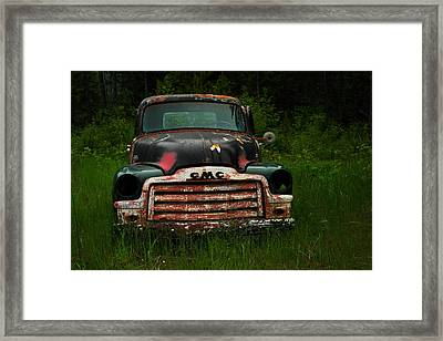With Both Eyes Poked Out Framed Print by Jeff Swan