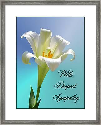 With Deepest Sympathy Framed Print by Kristin Elmquist
