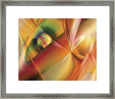 Framed Print featuring the digital art With Ease by Steve Sperry