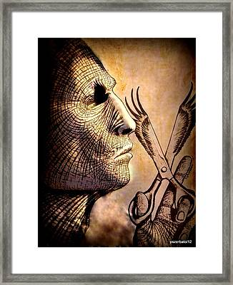 With Fire Of The Fight In The Look At Alone He Advanced Framed Print by Paulo Zerbato
