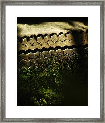 With Impartial Tread Framed Print by Rebecca Sherman