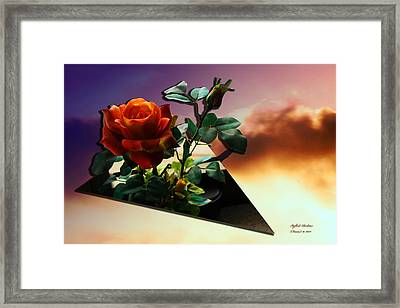 With Love Framed Print by Itzhak Richter
