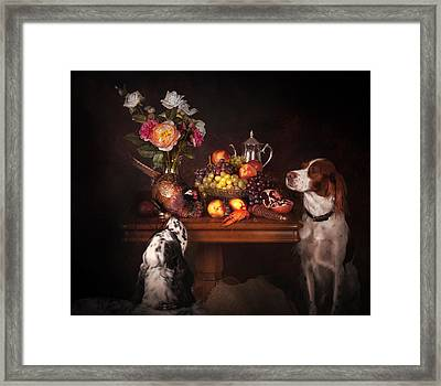 With Pheasants Framed Print