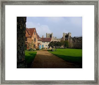Within The Castle Walls Framed Print by Frank Wickham
