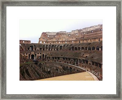 Within The Colosseum Framed Print by Richard Chapman