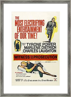 Witness For The Prosecution, From Top Framed Print by Everett