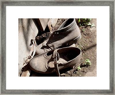 Witness Of The Past Framed Print by Valia Bradshaw
