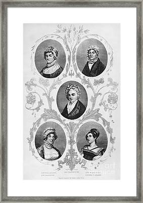 Wives Of Founding Fathers Framed Print