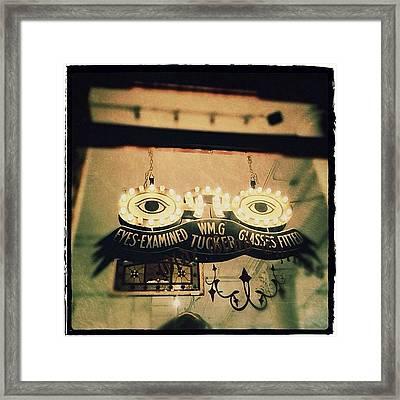 Wm.g Tucker Glasses Framed Print