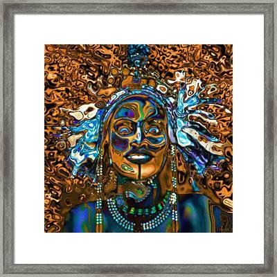 Wodaabe Blue Framed Print
