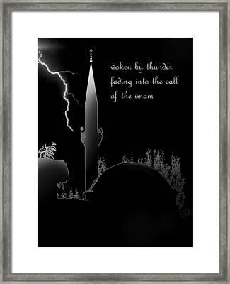 Woken By Thunder Framed Print by Steve Mangan