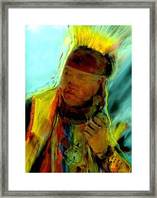 Wokini..seeking A New Beginning Framed Print by FeatherStone Studio Julie A Miller