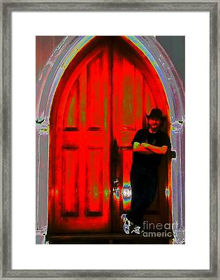 Wolf At The Door Framed Print