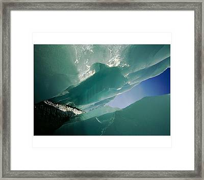 Wolf Creek Flows Through Perennial Ice Framed Print by Raymond Gehman