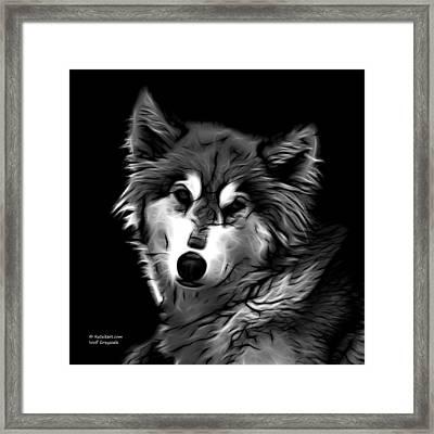 Wolf - Greyscale Framed Print