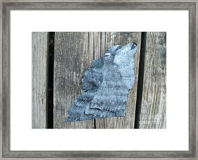 Wolf Howl3 Framed Print by Monika Shepherdson