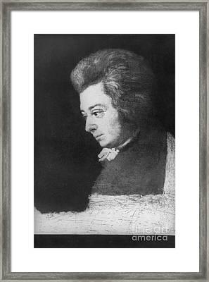 Wolfgang Amadeus Mozart, Austrian Framed Print by Omikron