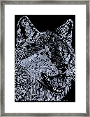 Wolfie Framed Print by Jim Ross