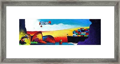 Wolfman Framed Print by Rob M Harper