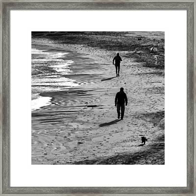 Wolk By The Sea Framed Print