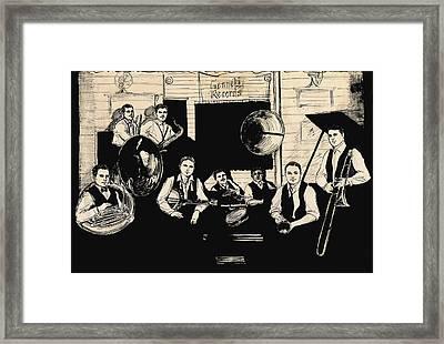 Wolverines Recording Session Framed Print