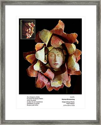 Woman Blossoming Framed Print by Beverly Barris