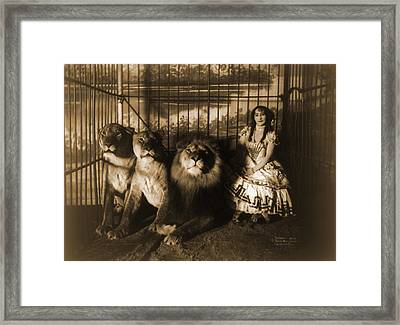 Woman Circus Performer Named Adjie Framed Print by Everett