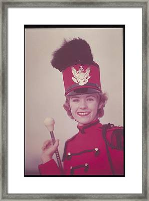Woman Dressed In Band Uniform, 1950s Framed Print by Archive Holdings Inc.