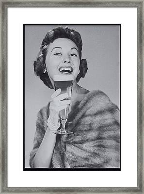 Woman Drinking Beer, 1950s Framed Print by Archive Holdings Inc.