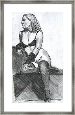Woman Framed Print by Eric Atkisson