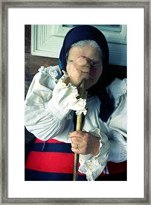 Woman From Maramures  Framed Print by Emanuel Tanjala