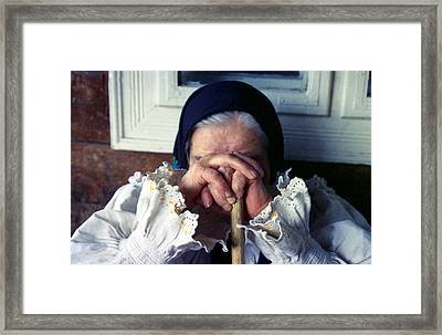 Woman From Maramures Romania Framed Print by Emanuel Tanjala