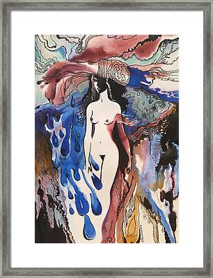 Woman In A Hat Framed Print