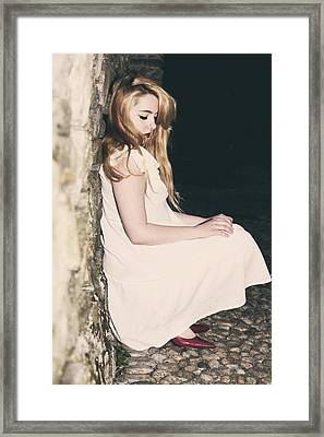 Woman In An Alley Framed Print by Joana Kruse