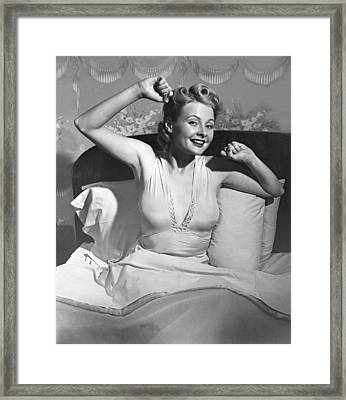 Woman In Bed Framed Print by George Marks