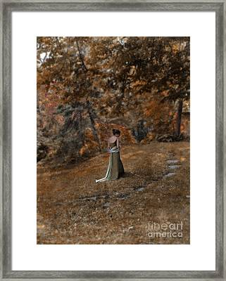 Woman In Green Gown  Framed Print