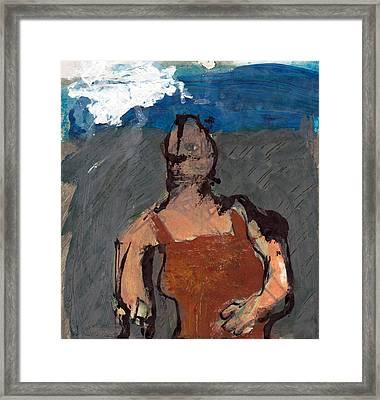 Woman In Landscape 2 Framed Print