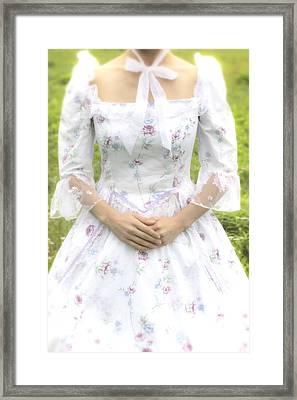 Woman In Period Dress Framed Print