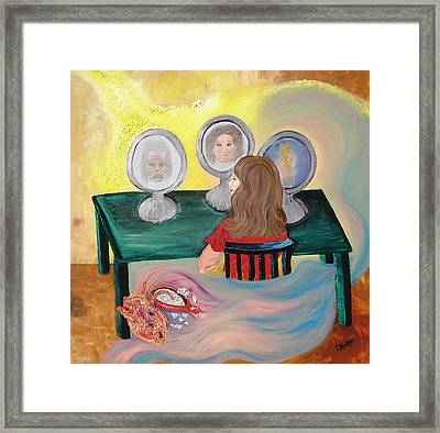 Woman In The Mirror Framed Print by Lisa Kramer
