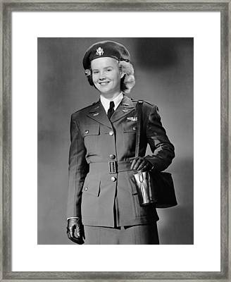 Woman In Uniform Framed Print by George Marks