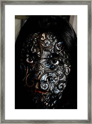 Woman Of Mystery Framed Print by Christopher Gaston