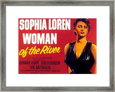 Woman Of The River, Aka La Donna Del Framed Print by Everett