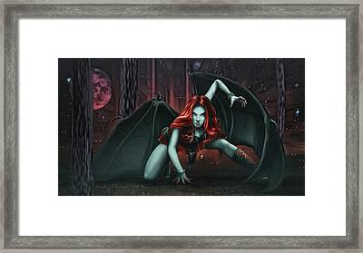 Woman Of The Shadow Framed Print by Rick Ritchie