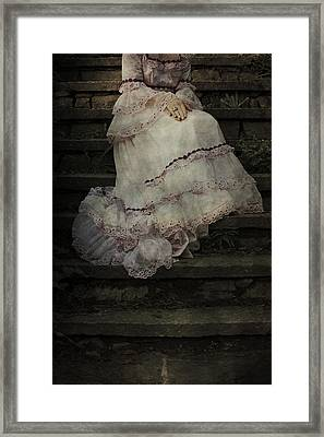 Woman On Steps Framed Print