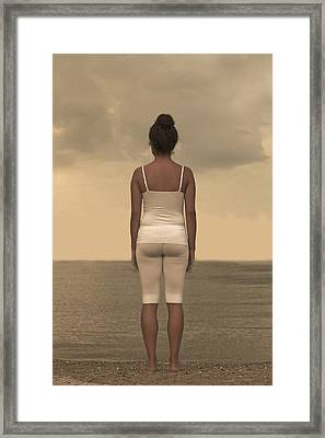 Woman On The Beach Framed Print by Joana Kruse